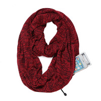 Winter Women Warm Passport Check Scarf Fashion Knit Travel Infinity Scarf With quality