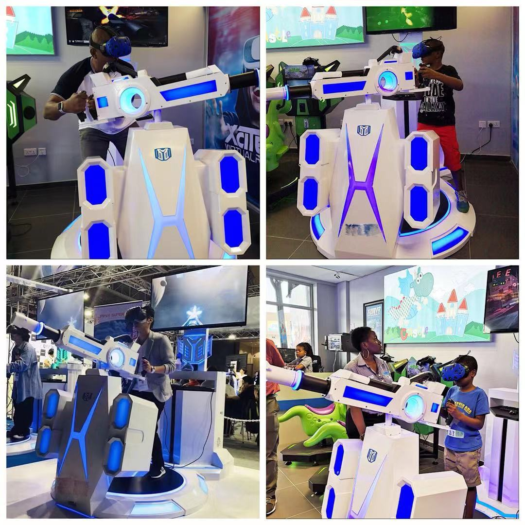 9D جاتلينج الواقع الافتراضي بندقية VR اطلاق النار ماكينة مقاعد ألعاب المحاكاة مع HTC فيف VR نظارات