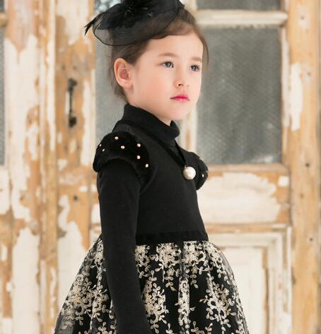 Pakaian Anak Korea Hanbok Formal Anak Gadis Musim Dingin Gaun