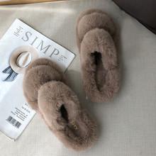 Зимние женские пушистые тапочки, модная теплая обувь из искусственного меха, женские слипоны на плоской подошве, женские домашние шлепанцы,...(Китай)