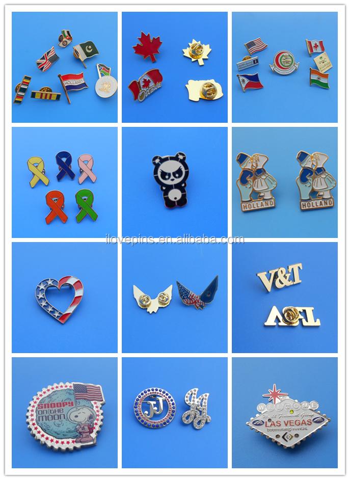 Custom Make Badge HI-PO Soft Enamel Magnetic  Lapel Pin
