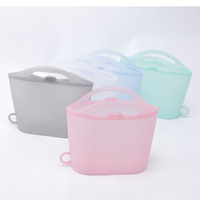 Hot Selling 2019 Waterproof Reusable Silicone Snack Bag Ziplock Sandwich Silicone Bag For Food Storage