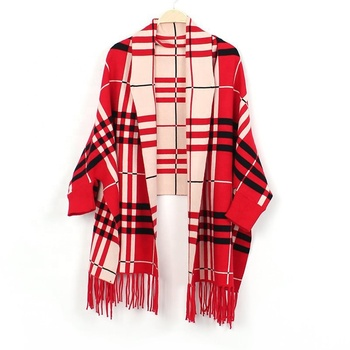 High Quality Viscose Wraps Red 100% Cotton Pashmina Wool Scarves Shawl Plaid Shawl and Scarf