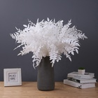 Wedding Hotel Decoration White Color Artificial Silk Locust Leaves
