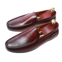 New men penny loafers Italian leather business shoes with retro soles loafers shoes for men