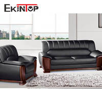 Ekintop italian style home luxury executive genuine leather low price living room furniture designs sofa sets