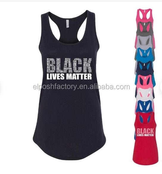 Wholesale Monogrammed Fashion Women s Print Black Lives Matter Tank Top Vintage Letters Woman Tank Top