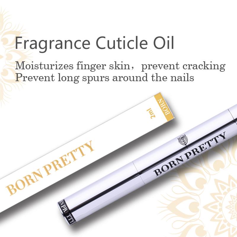 BORN PRETTY 2ml Fruit Flower Flavor Manicuring Nail Art Nutrition Care UV Gel Nail Art Use Cuticle Oil Pen