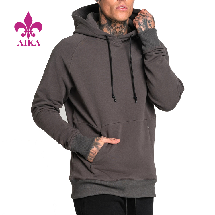 Compression Gym Wear Fitness Tracksuit Hoodies Custom Athletic  Pullover For Mens