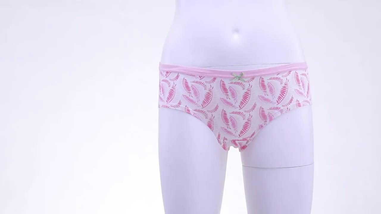 Wholesale Custom Printed Underwear Junior Girls Cartoon Underwear Kids Girl Thong Underwear