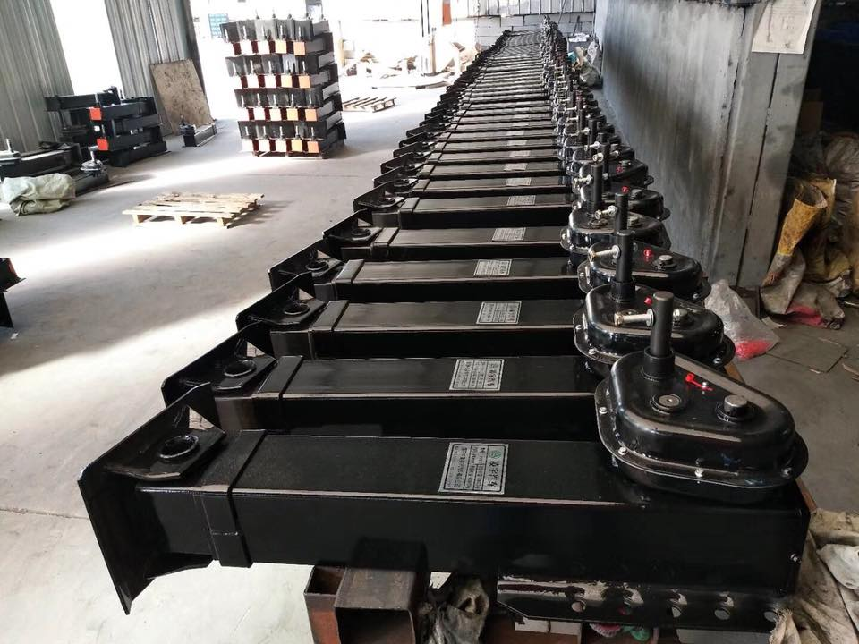 single action landing gear semi trailer parts landing support