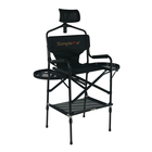 Onwaysports Aluminum Folding Height Adjustable Barber Makeup Artist Chair With Headrest