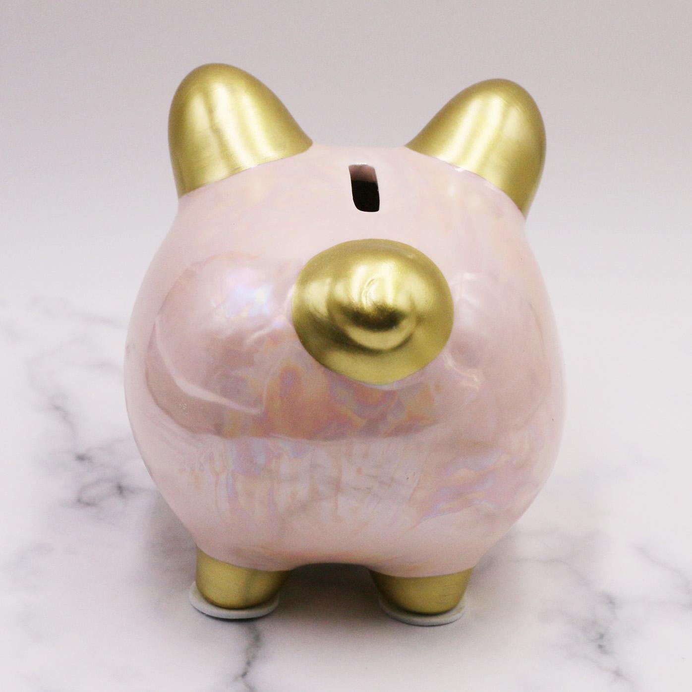 Custom Ceramic Pink Home Piggy Bank