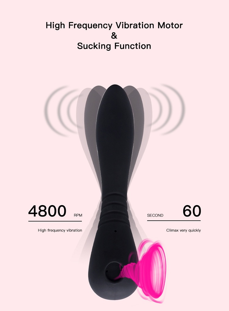 Non Toxic Multi Function New Design Hot Seller Best Heating Vibrating Sucking Sex Toy