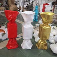 Customized modern pop art ornaments wholesale Fiberglass wedding candy sculpture