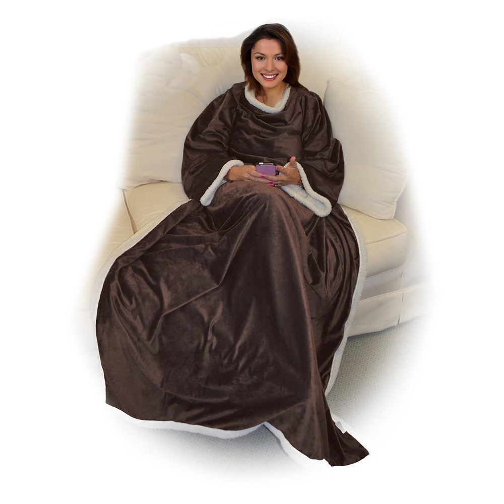 Supersoft Portable Chaud En Peluche Snuggie Polaire Adultes TV Couverture