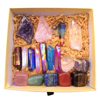 Custom Chakra Stones Crystal With Box Healing 7 Chakras Meditation Crystal Set