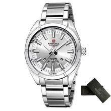 Бренд NAVIFORCE, мужские часы, Бизнес Кварцевые часы, мужские часы из нержавеющей стали, 30 м, водонепроницаемые наручные часы, Relogio Masculino(Китай)