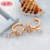 New Arrival Copper Good Rose Gold Plated Zircon Huggie Earrings Women