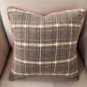 China Plaid Decorative Throw Pillow Covers Modern Jacquard Pillowcases full polyester Cushion Covers Set for Sofa Couch Bedroom,