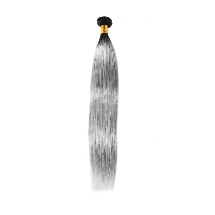 Atacado virgem vietnamita cinza em linha reta tecer cabelo humano pacote