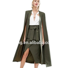 New arrive high quality long olive green cape girls elegant cape for ladies