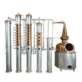 high quality new copper distiller alcohol distillery machine China