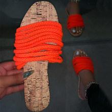 Женские тапочки; Женская летняя хлопковая обувь на плоской подошве; Женская обувь; Цвет желтый, оранжевый; Женские шлепанцы; Удобная Пляжная...(Китай)