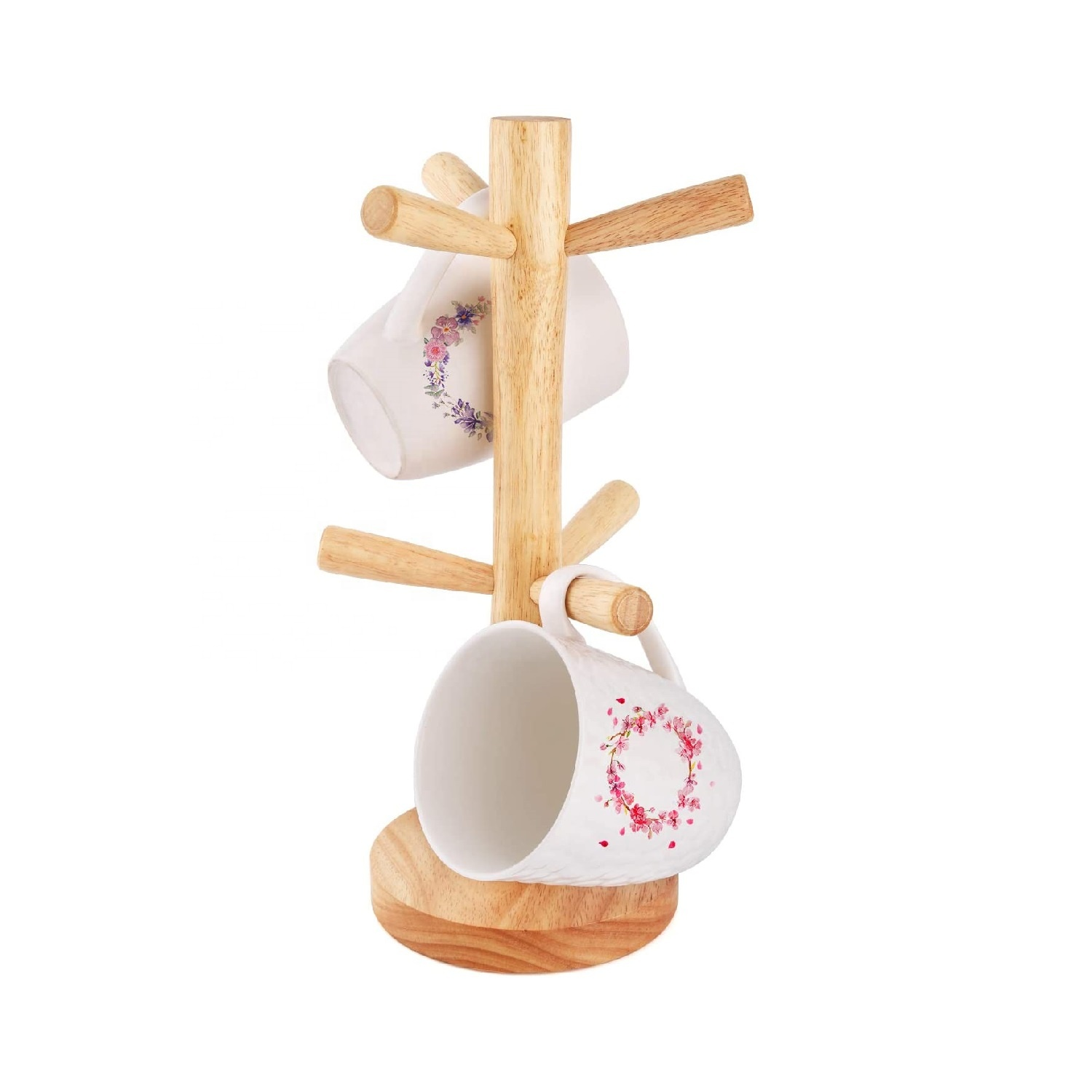 Kitchen Coffee Mug Cup Holder Rack Wooden Mug Holder Tree Display Stand Buy Custom Wooden Mug Tree Mug Holder Rack Tabletop Holder Hot Selling Mug Display Stand Storage Coffee Tea Cup