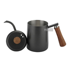 Highwin Black Painting Wood Knob And Handle Stainless Steel Hand Drip Pour Over Coffee Kettle