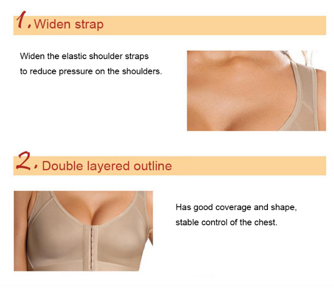 Dropshipping Agent Women Shockproof Posture Corrector Lift Up Sports Support Plus Size Adjustable Corset Underwear Fitness Bras