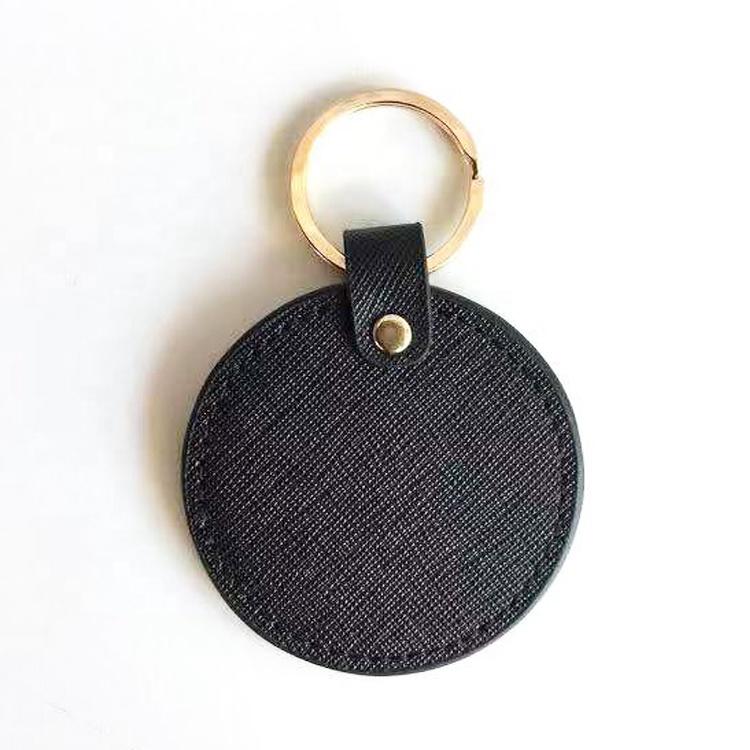 Gantungan Kunci Bulat Asli Dipersonalisasi, Gantungan Kunci Kulit Kustom