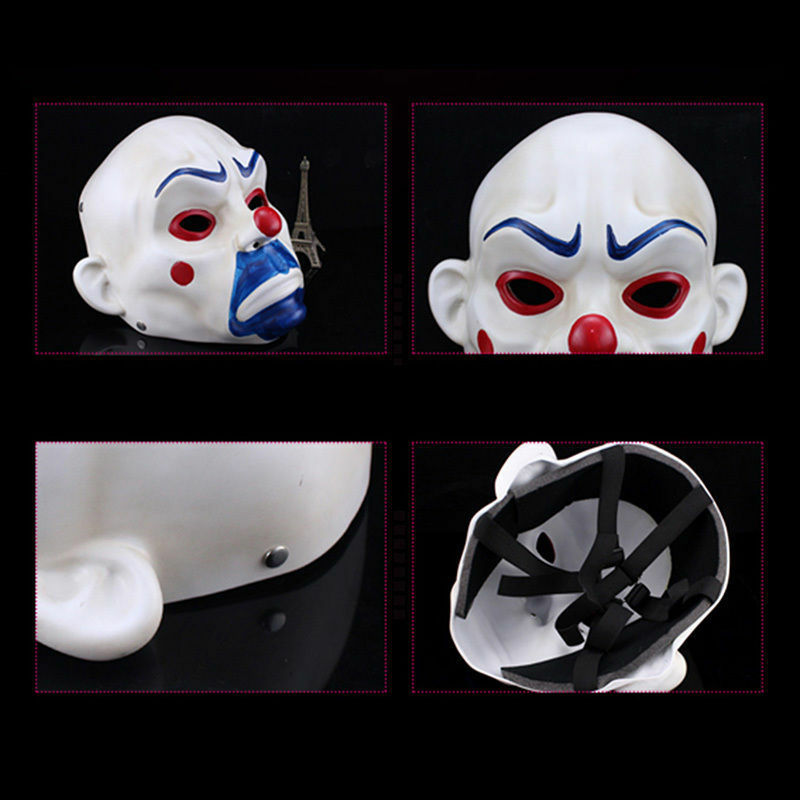 Resin Batman Joker Clown Bank Robber Masks The Dark Knight Scale Mask Costumes