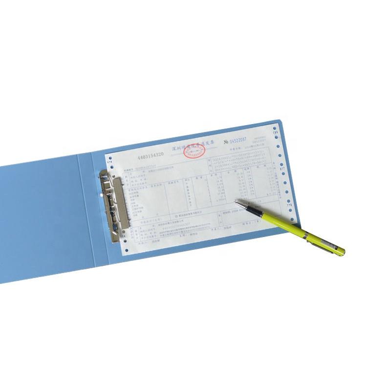 Văn Phòng A6 Hóa Đơn Giấy PP Nhựa Nhỏ Bằng Kim Loại Kẹp Thư Mục Tập Tin