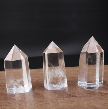 Natural polishing Crystal healing Clear Crystal Points from Donghai