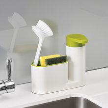 Многофункциональная Бытовая полка «Два в одном» для кухни и ванной, диспенсер для жидкого мыла с ящиком для хранения, держатель для кухни(Китай)