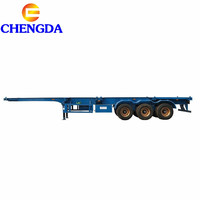 2axles 3 Axle 20FT 40FT 45FT Container Transport Skeleton Skeletal Flatbed Chassis Semi Trailer