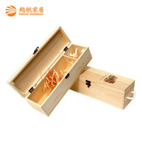 Competitive custom making cheap price bulk wooden wine boxes/wine packaging box