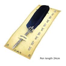 Перьевая ручка для письма, 1 комплект, 5 наконечник для письма, винтажный фонтан каллиграфии для школы, офиса, аксессуары(Китай)