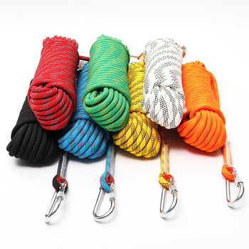 High quality Multicolor outdoor safety rock climbing rope 8mm 10mm 12mm 14mm 16mm 18mm 20mm 22mm for life saving and escaping
