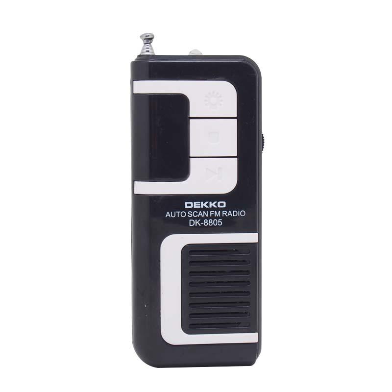 Top quality portable cheap fm auto scan radio with light