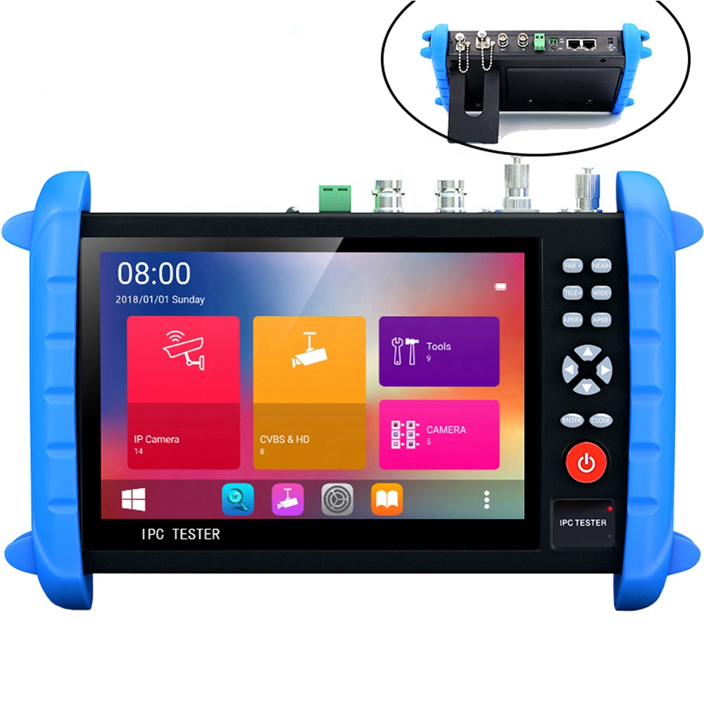 7 IPCX TESTER CCTV polegadas touch screen all-in-one multi-funcional Testador suporte IPC H.265 4K 8MP IP CVI TVI AHD SDI CVBS OPM VFL