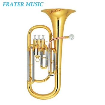 High grade Bb key Monel piston gold brass leadpipe Baritone horn (JBR-211)