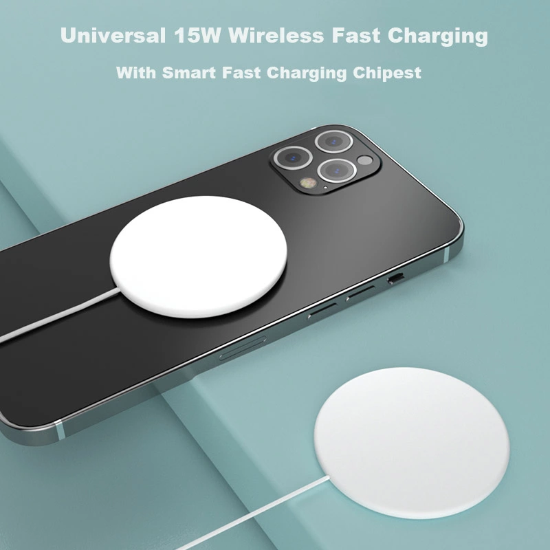 Magnetic Wireless Charger For iPhone 12 Pro Max Magsafe Charger 15W Fast Charging Dock For Samsung Xiaomi Quick Wireless Charger