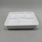 Lunch Tray Lunch Tray Wholesale Biodegradable Sugarcane Bagasse Lunch Food 5 Compartments Tray