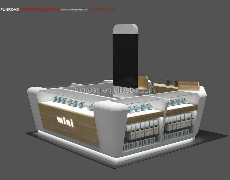 Free design mall kiosk for cell phone showcase display