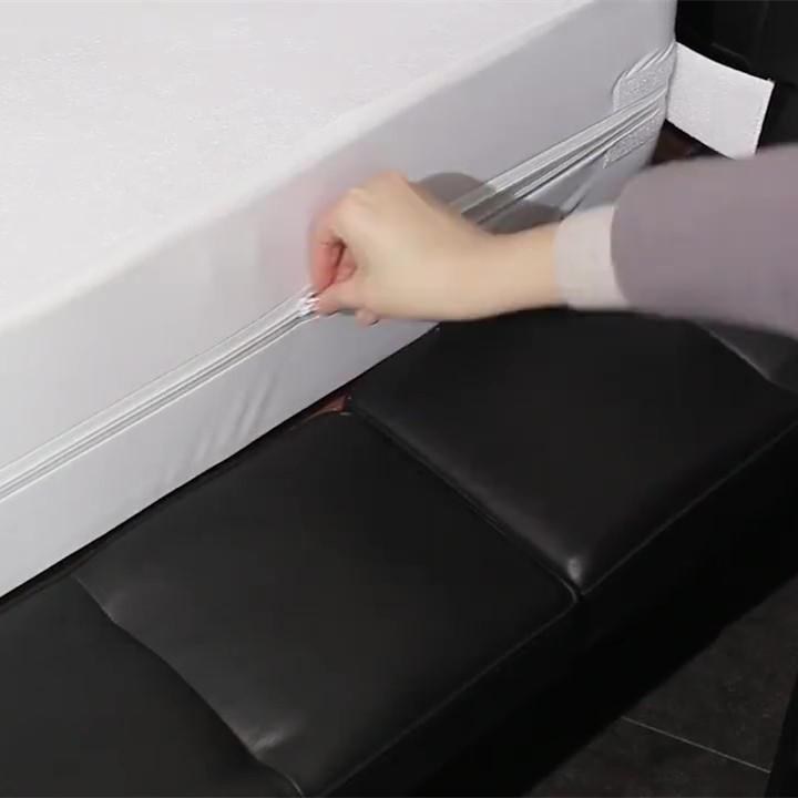 Zippered पूर्ण कुल संरक्षण निविड़ अंधकार गद्दा झालर बिस्तर गद्दा कवर
