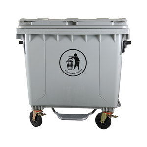 1100L Large Plastic outdoor garbage can dumpster