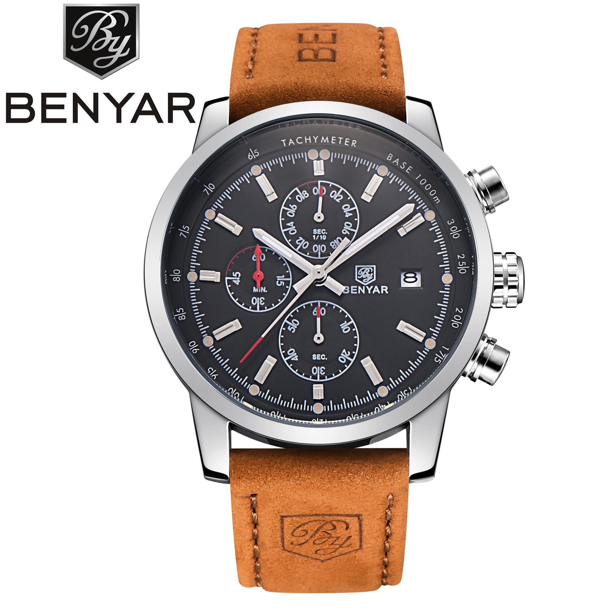 BENYAR 5102 Brand Watch Chronograph Sport Men Quartz Date Watches фото