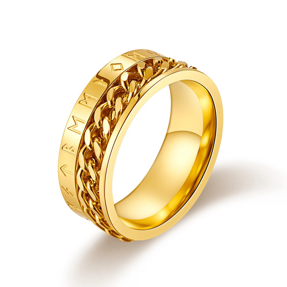 Oya Perhiasan Desain Kustom 14 K Emas Disepuh Pria Stainless Steel Perhiasan
